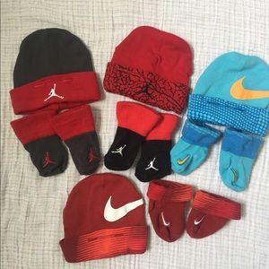 0f9091428d9 4 set of Nike   Jordan Matching Beanie   Socks